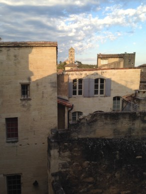 Uzes and view of Fenestrelle